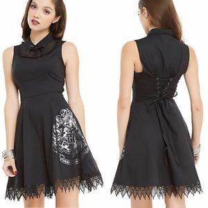 Harry Potter Black Hogwarts Collar Dress Sz Large